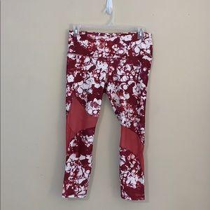 Under Armour red marble mesh leggings